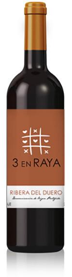 3 en Raya  rode wijn Tempranillo 2015 / 14.5%  / 12 x 75 cl