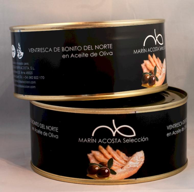 Gastronomische Ventresca van tonijn met extra viergen olijfolie 1kg