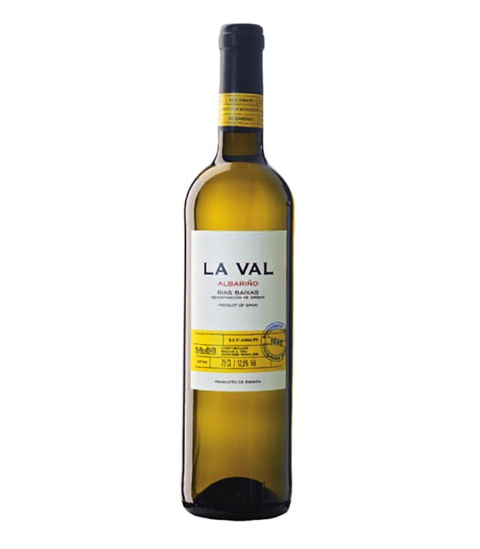 """LA VAL"" witte wijn Albariño (12 x 37,5 cl = 6 x 75 cl) 12,5% /  2015"
