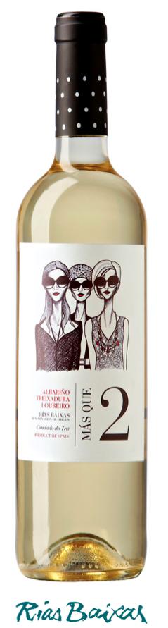 """"""" LA VAL Mas que Dos """" witte wijn Condado  75 cl / 12,5%"""