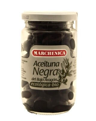 Biologische Zwarte Olijven Empeltra 200 Gram