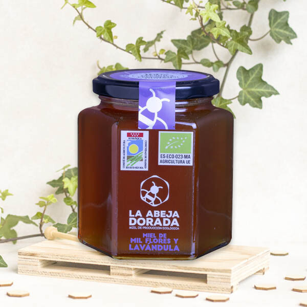 Biologisch duizend bloemige honing 6 x 250 Gram