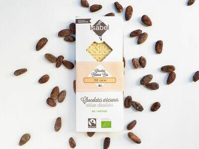 Tablet witte Chocolade 80 Gram /  35% cacao (Doos 10 x 80 gram)