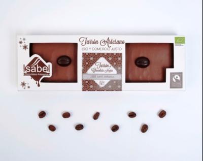 Biologische handgemaakte nougat - Truffel en koffie 100% Arabica. 200 Gram (Doos 200 Gram x 10 stuks.)