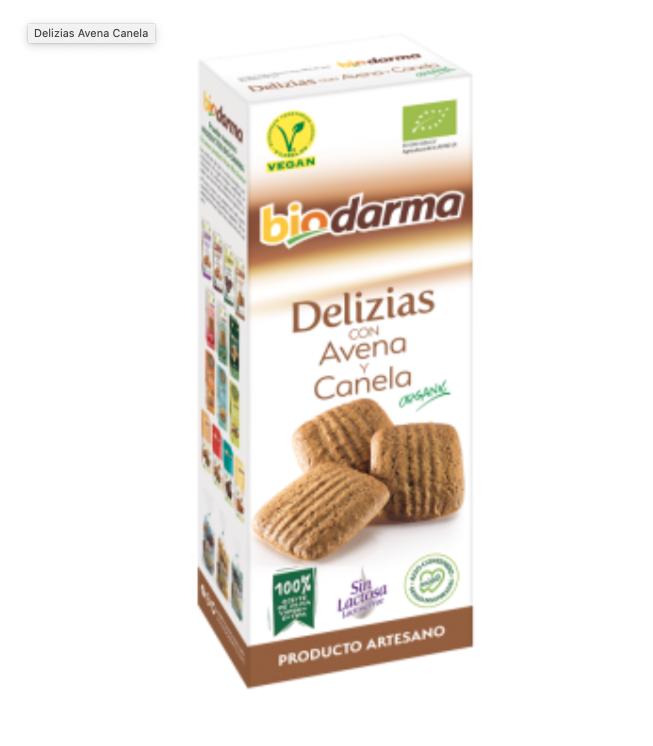 Biologische Volkoren havermeel koekjes met kaneel en extra viergen olijfolie 125 Gram , Doos 12 x 125 Gram