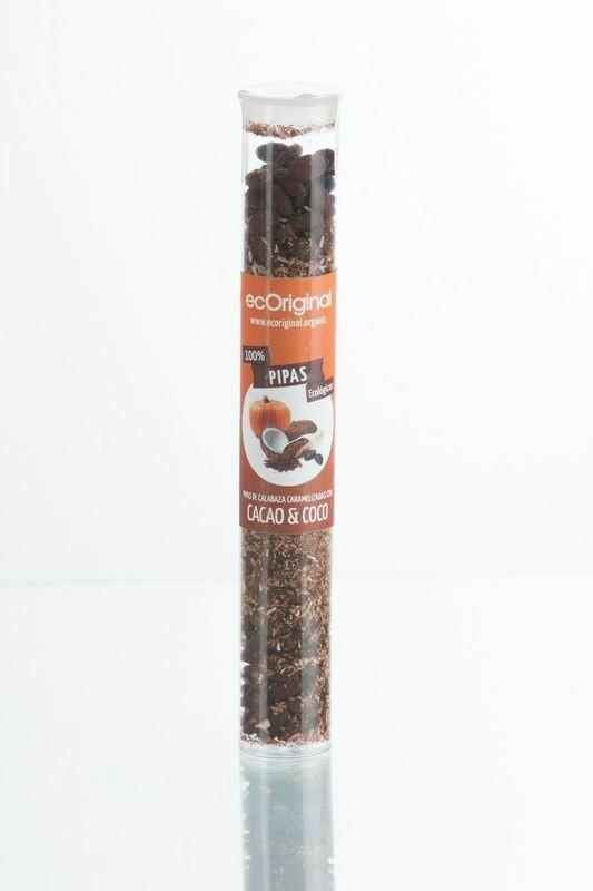 Biologische Sesam, Pompoenpitten met cacao en kokos 70 Gram