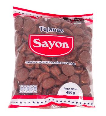 Galletas Tejana Sayon (Doos x 4 bolsas, cada bolsa 480 Gram c/u)