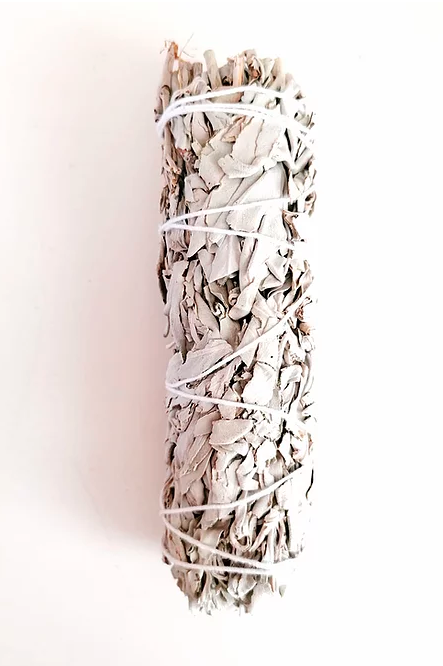 Witte salie smudge stick groot 20 cm
