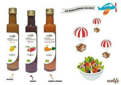 Biologische roodfruit wijn azijn / Doos 6 x 250 ml