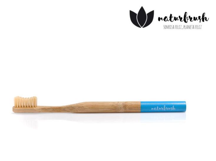 Tandenborstel Naturbrush Biologisch Afbreekbaar Bamboe Blauw