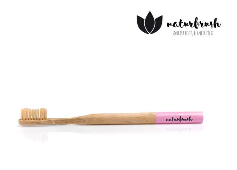 Tandenborstel Naturbrush Biologisch Afbreekbaar Bamboe Rose