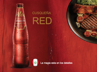 Cerveza Cusqueña Roja 5 %  /  24 x 33 cl