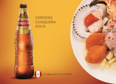 Cerveza Cusqueña Rubia  (Gold) 4,8 %   Doos 24 x 33 cl