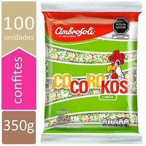 Caramelos Cocoroko de LIMON (Doos x 5 bolsas, bolsa de 100 Caramelos cada bolsa)