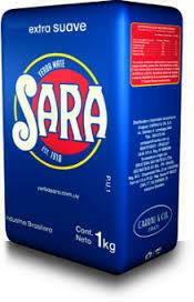 Yerba Mate Sara Extra Suave / 6 x  1000 Gram