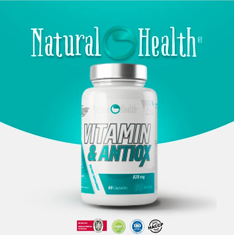 Vitamin and Antiox 60 cap. 820 mg 100% CDR