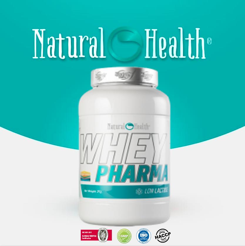 Whey Pharma 3 x 2kg GLUTENVRIJ!! (79%) 3 Smaak (2 kG van karamel, 2 Kg van Choco yoghurt en 2 Kg van vanille)