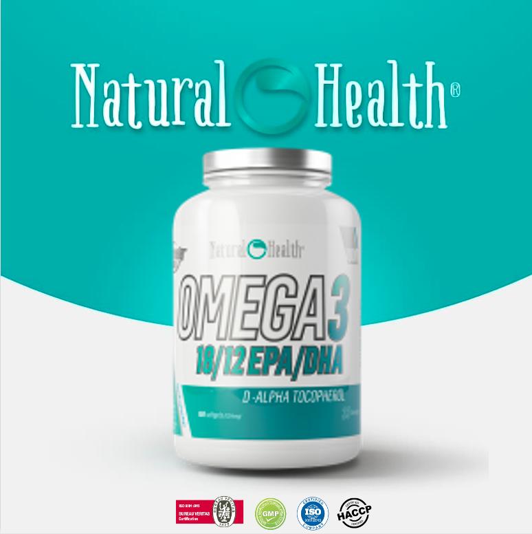 Omega 3 (18 EPA/12DHA) 1000mg 100 cap zacht (1354mg)