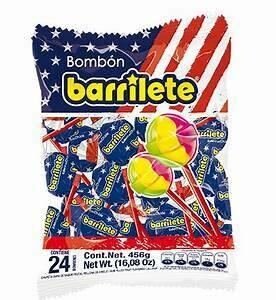 Barrilete Bombon Doos 3 bolsas x 24 Unidades c/u (546 Gram)