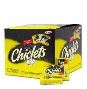 Chiclets Menta Doos 100 Unidades (280 Gram)