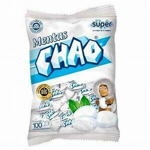 Mentas Chao  Doos 3 bolsas x 100 Unidades c/u