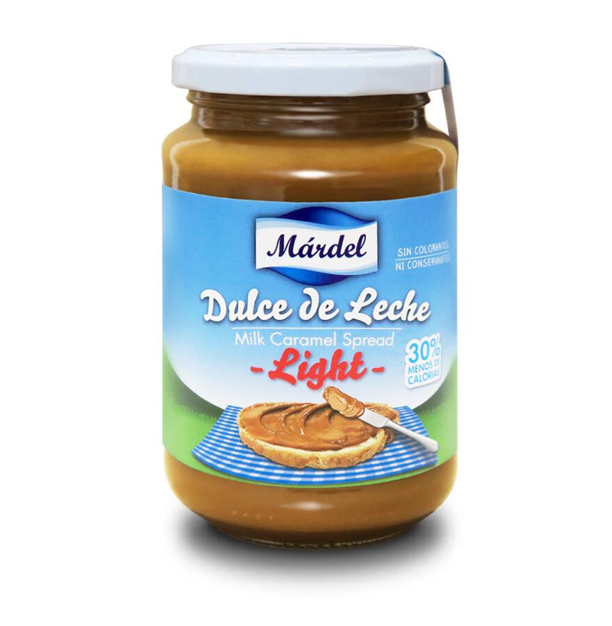 Dulce de Leche Mardel Light / Doos 12 potes x 450 Gram c/u