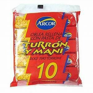 Turrón Arcor / Doos 12  bolsas x 10 sobres por bolsa.