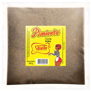 Pimienta Molida Sibarita Bolsa a Granel 4 x 250 Gram c/u (1 kg)