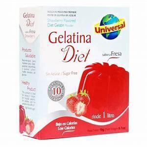 Gelatina Diet 19 Gram (2 Display x 12 unid) Rinde 1 litro  *Libre de Gluten*