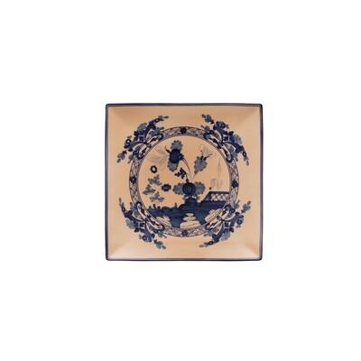 GINORI piatto quadrato 26cm cipria Oriente Italiano