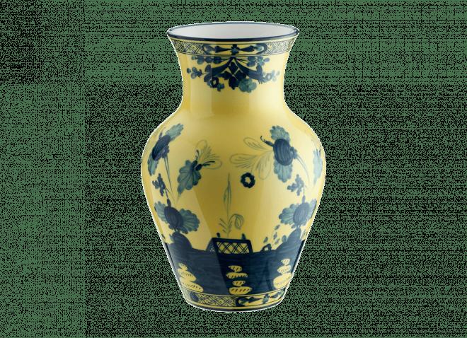 GINORI vaso ming 25cm citrino Oriente Italiano