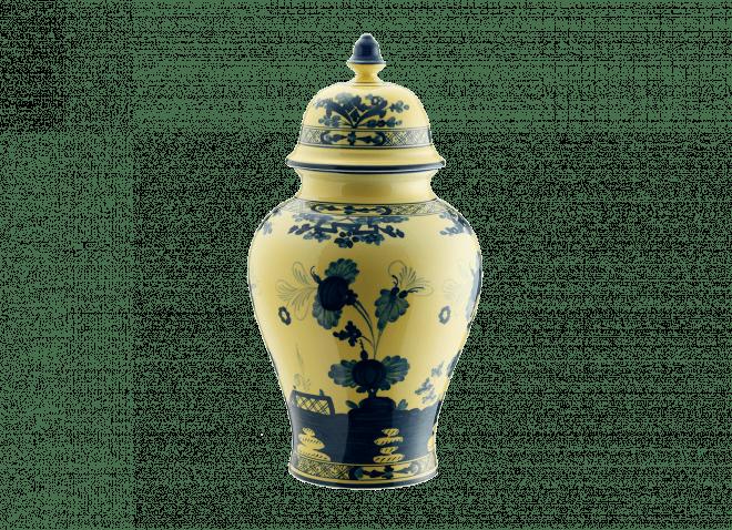 GINORI vaso potiche 30cm citrino Oriente Italiano