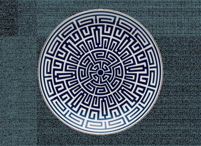 GINORI centrotavola 30cm Labirinto zaffiro