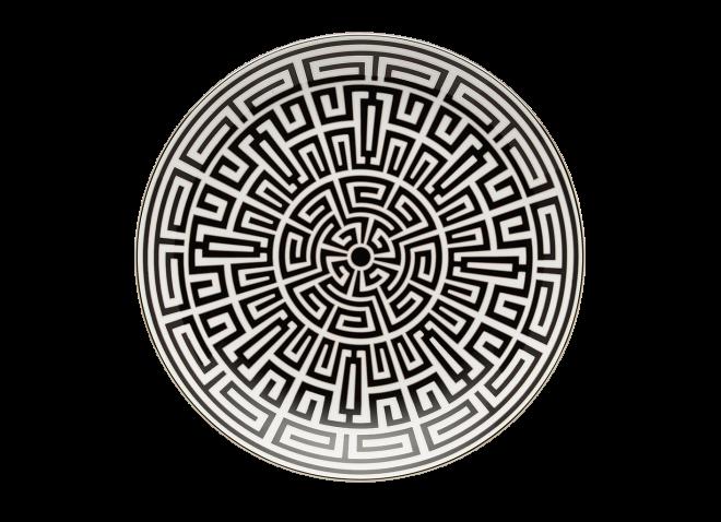 GINORI centrotavola 30cm Labirinto nero
