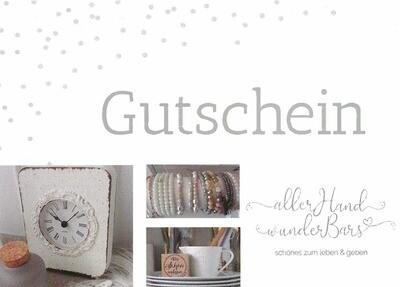 Geschenkgutschein - Kontakt per Mail!