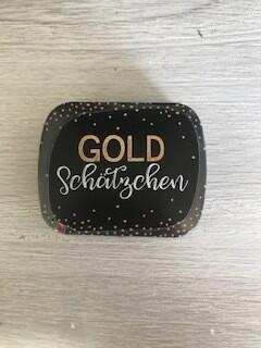 """Blechdösli """"Goldschätzchen"""""""