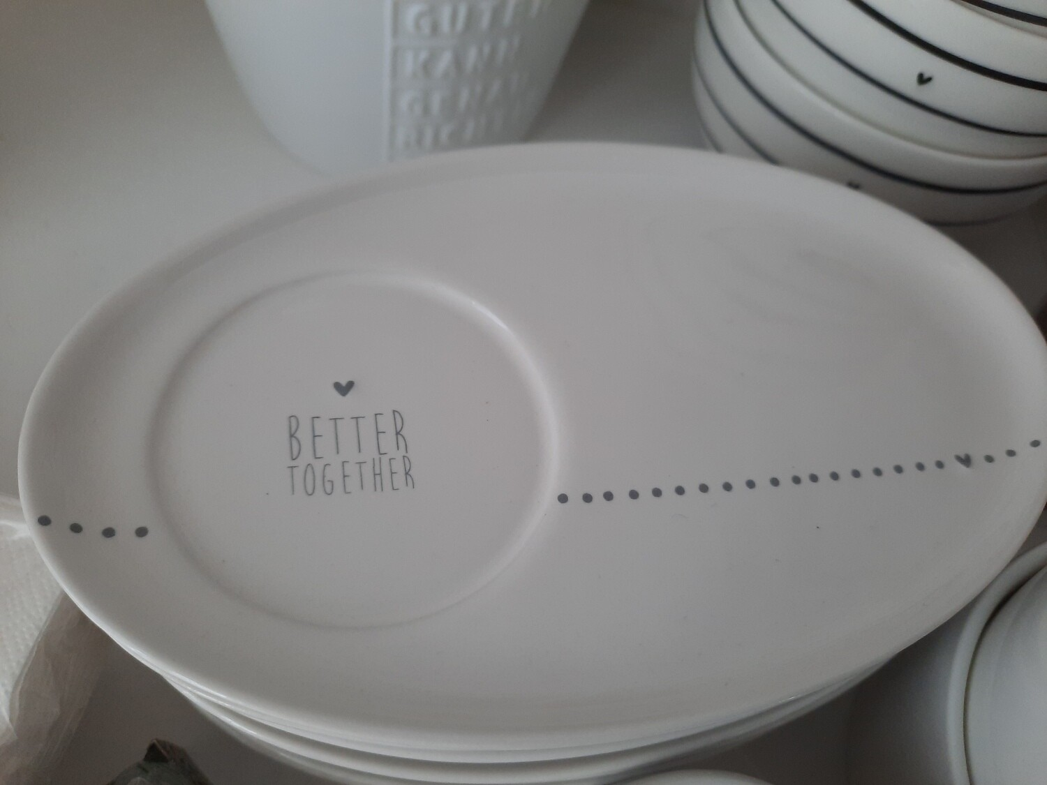 """better together"" Untertasse zu Espresso-Tasse"
