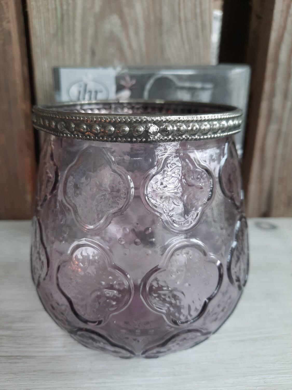 """Teelicht-Glas violett """"gross"""""""