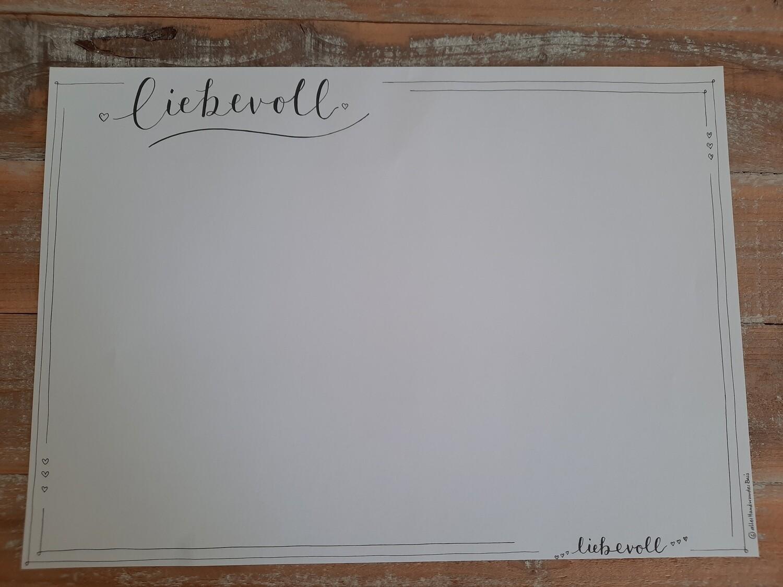 """Papier-Tischset """"liebevoll"""""""