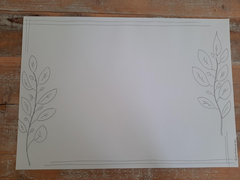 "Papier-Tischset ""Blätter"""