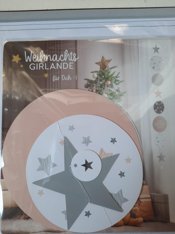 Girlande - Sterne und Kreise