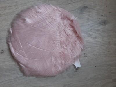 rundes Fell rosa