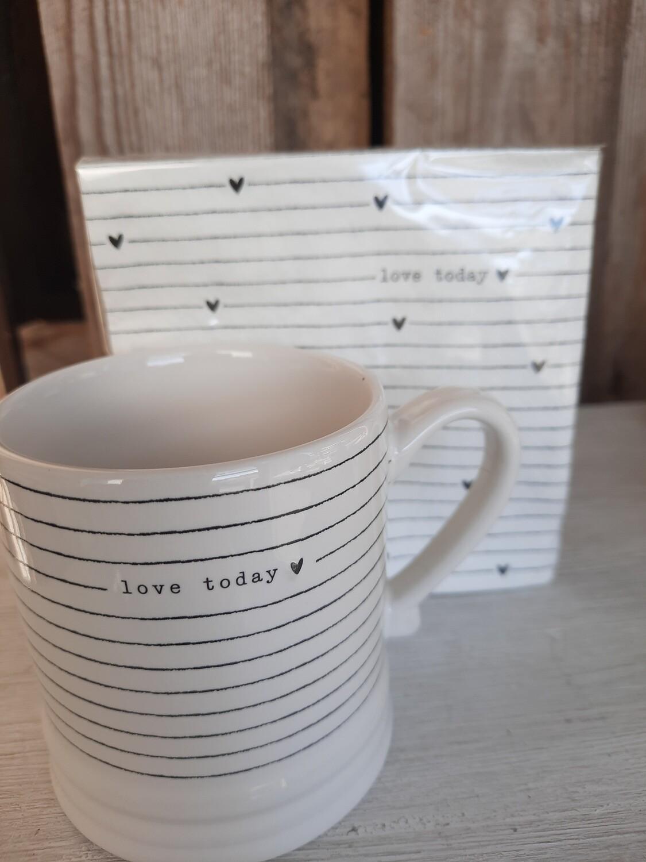 """Tasse """"love today"""" von Bastion Collections"""