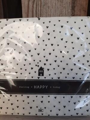 """Servietten  """"feeling happy today"""""""