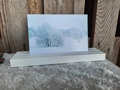 Kartenständer weiss von Eulenschnitt