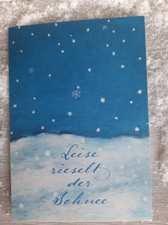 """Karte """"leise rieselt der Schnee"""""""