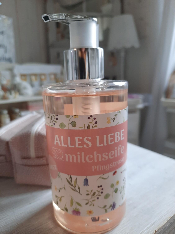 """""""alles Liebe"""" Schafmilchseife Pfingstrose"""