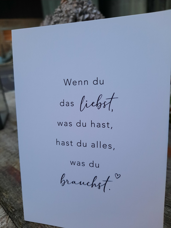Postkarte - wenn du liebst....