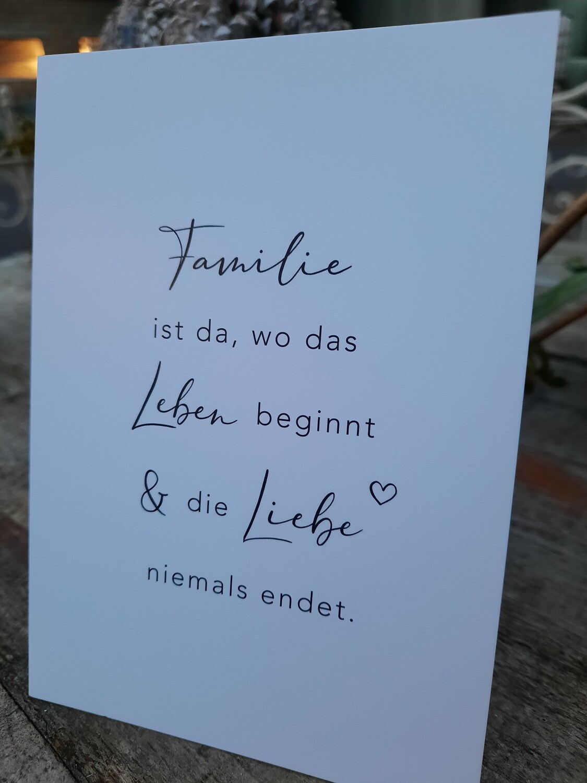 Postkarte -Familie....