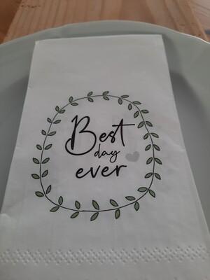 """Serviette """"best day ever"""" (12 Stk)"""
